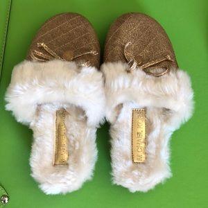 Michael Kors Gold House Slippers